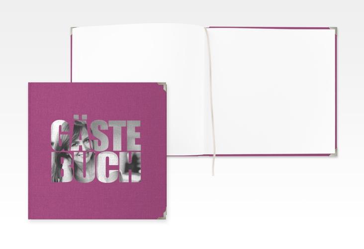"""Gästebuch Selection Geburtstag """"Jahreszahl"""" Leinen-Hardcover pink"""