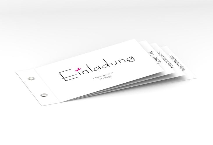 """Hochzeitseinladung """"Twohearts"""" Booklet pink"""