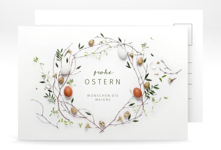 """Osterkarte """"Osterkranz"""" A6 Postkarte"""