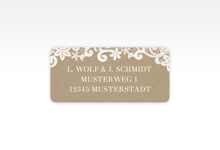 """Absenderetikett Hochzeit """"Bella"""" 45,7 x 21,2 mm beige"""