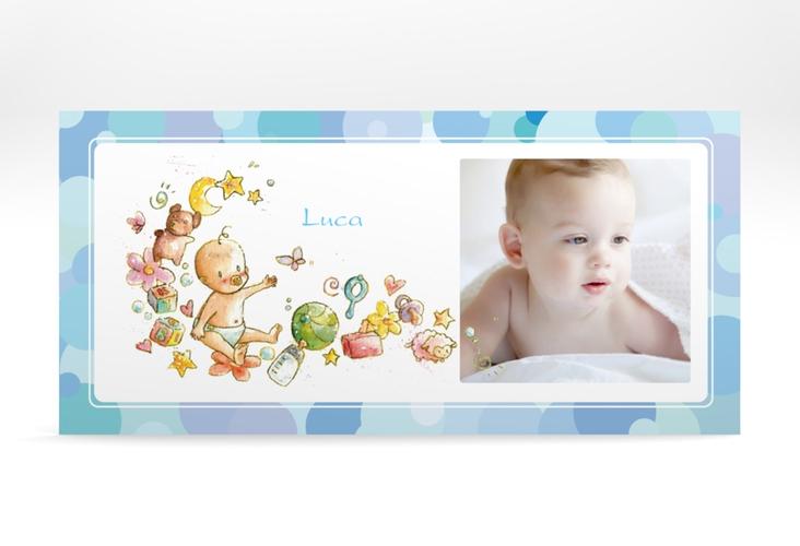 "Geburtskarte ""Bubbles"" DIN lang"