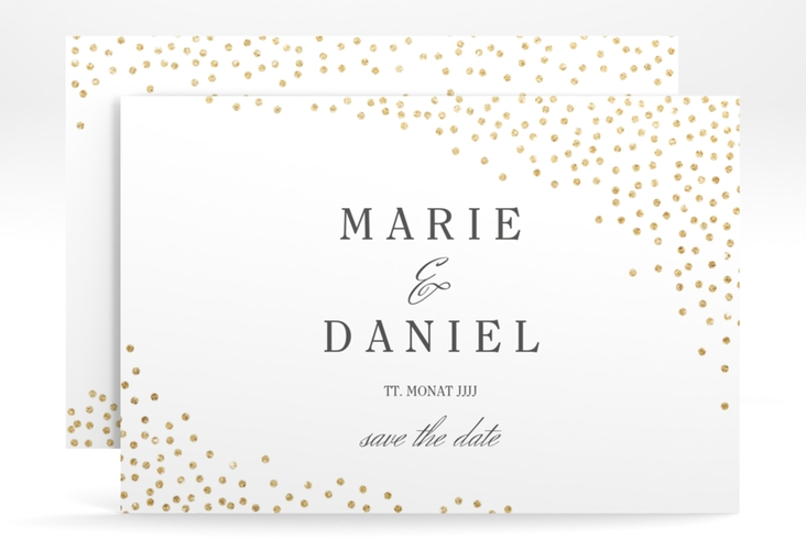"Save the Date-Karte ""Glitter"" A6 quer"
