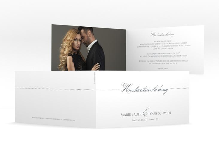 """Hochzeitseinladung """"Pure"""" DIN lang Klappkarte"""