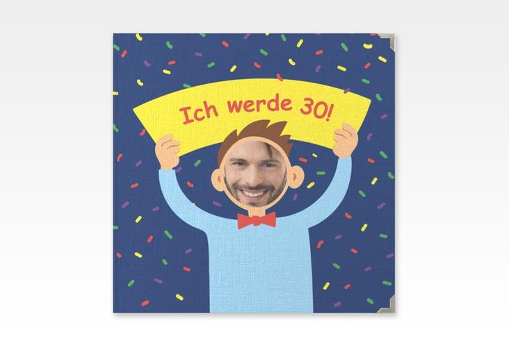 "Gästebuch Selection Geburtstag ""Comic Man"" Leinen-Hardcover blau"