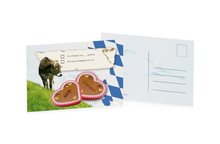Biglietti risposta matrimonio collezione Alpi A6 Postkarte Bavaria