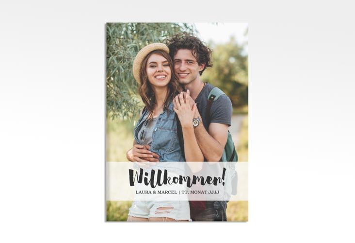 """Willkommensschild Hochzeit """"Mirage"""" 50 x 70 cm Leinwand"""