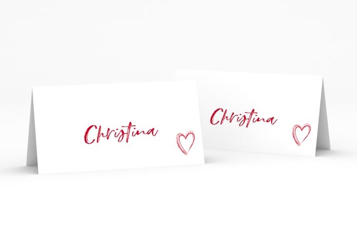 """Tischkarte Hochzeit """"Liebe"""" Tischkarten rot"""