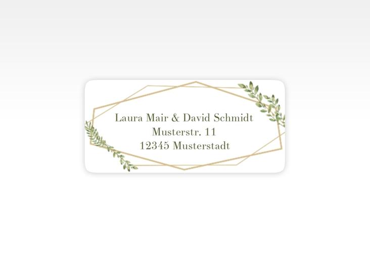 """Absenderetikett Hochzeit """"Herbarium"""" 45,7 x 21,2 mm"""