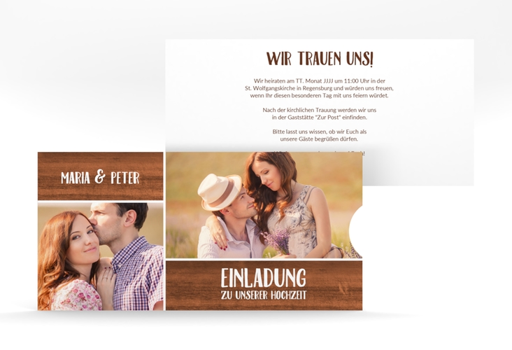 """Hochzeitseinladung """"Landliebe"""" Einsteckkarte"""