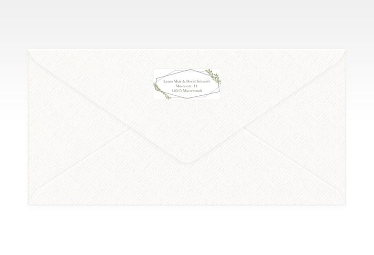 """Absenderetikett Hochzeit """"Herbarium"""" 45,7 x 21,2 mm grau"""