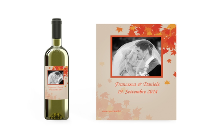 Etichette vino matrimonio collezione Prato Etikett Weinflasche 4er Set