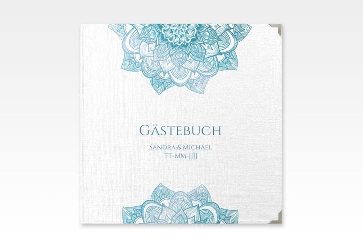 """Gästebuch Selection Hochzeit """"Delight"""" Hardcover tuerkis"""