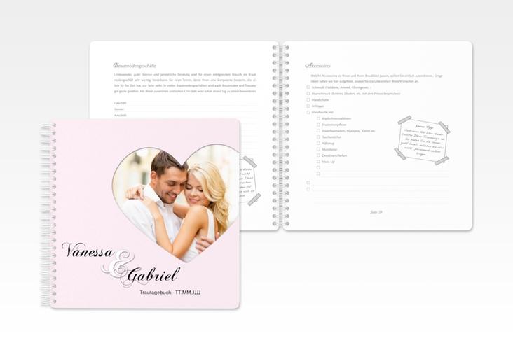 """Trautagebuch Hochzeit """"Sweetheart"""" Trautagebuch Hochzeit rosa"""