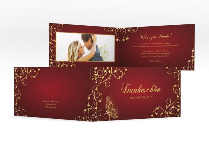 "Danksagungskarte Hochzeit ""Eternity"" DIN lang Klappkarte"