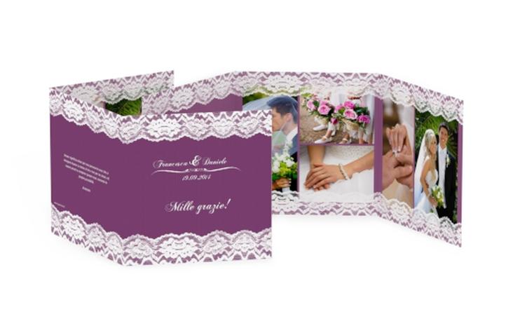 Ringraziamenti matrimonio collezione Montreux Quadr. Karte doppelt