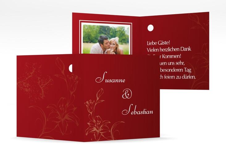 "Geschenkanhänger Hochzeit ""Lille"" Geschenkanhänger 10er Set rot"