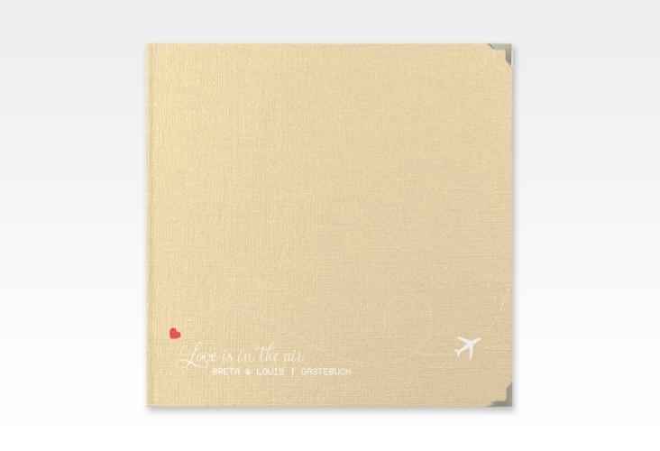 """Gästebuch Selection Hochzeit """"Weddingpass"""" Hardcover beige"""
