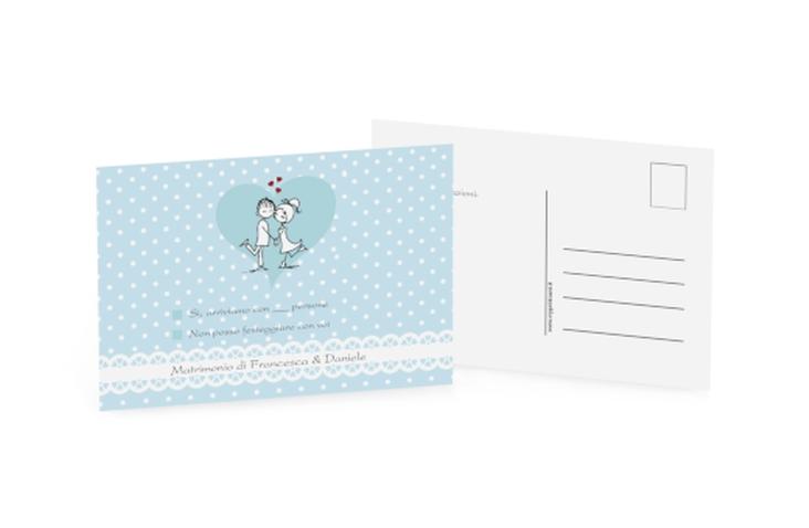 Biglietti risposta matrimonio collezione Berlino A6 Postkarte