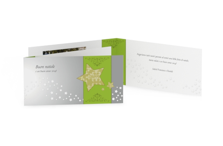 Biglietti natalizi stella DIN lang Klappkarte