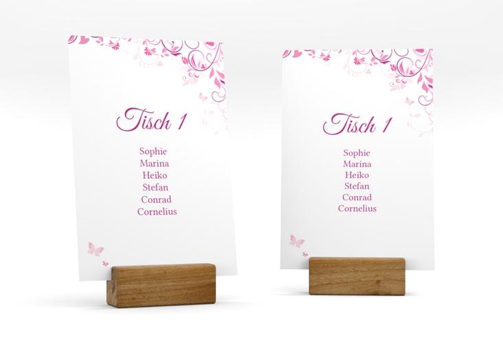 """Tischaufsteller Hochzeit """"Lilly"""" Tischaufsteller pink"""
