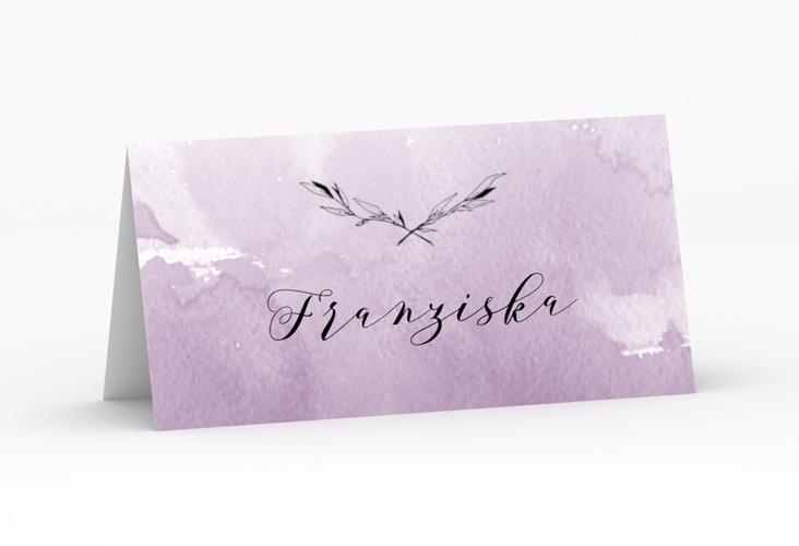 """Tischkarte Hochzeit """"Divine"""" Tischkarten flieder"""