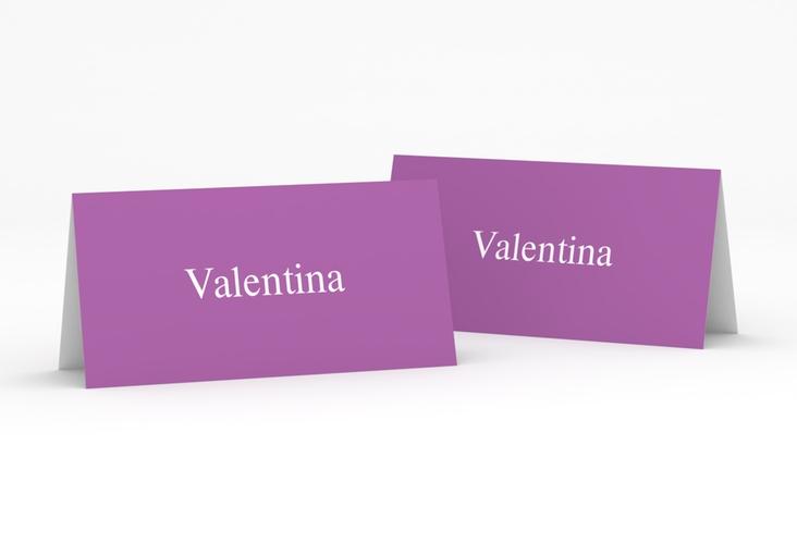 """Tischkarte Hochzeit """"Classic"""" Tischkarten lila"""