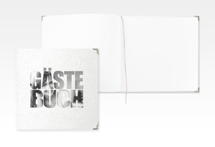 """Gästebuch Selection Geburtstag """"Jahreszahl"""" Leinen-Hardcover weiss"""