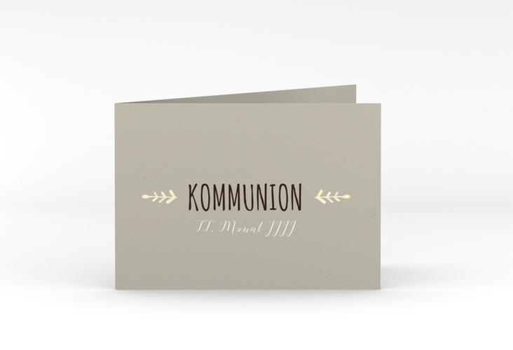 "Kommunionseinladung ""Ramus"" A6 Klappkarte Quer"