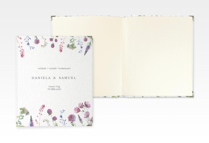 """Hochzeitsalbum """"Wildblumen"""" 21 x 25 cm"""