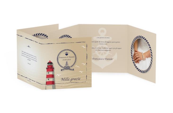 Ringraziamenti matrimonio collezione Amburgo Quadr. Karte doppelt