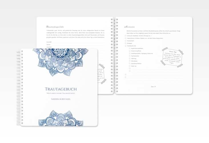 """Trautagebuch Hochzeit """"Delight"""" Trautagebuch Hochzeit blau"""