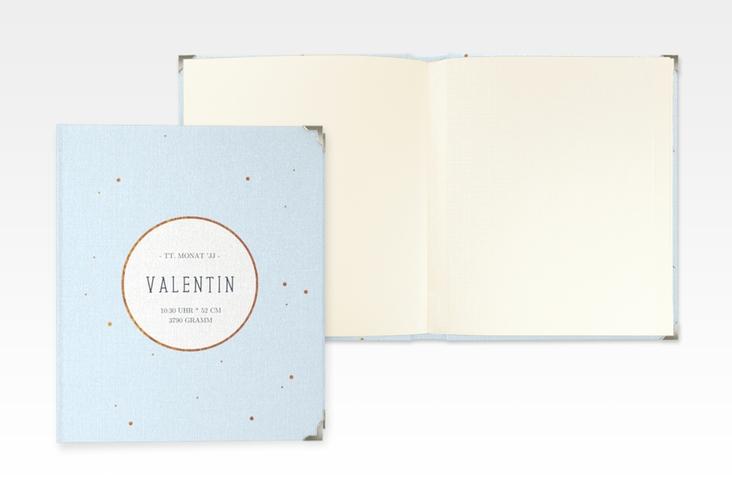 "Baby Fotoalbum ""Gleaming"" 21 x 25 cm blau"