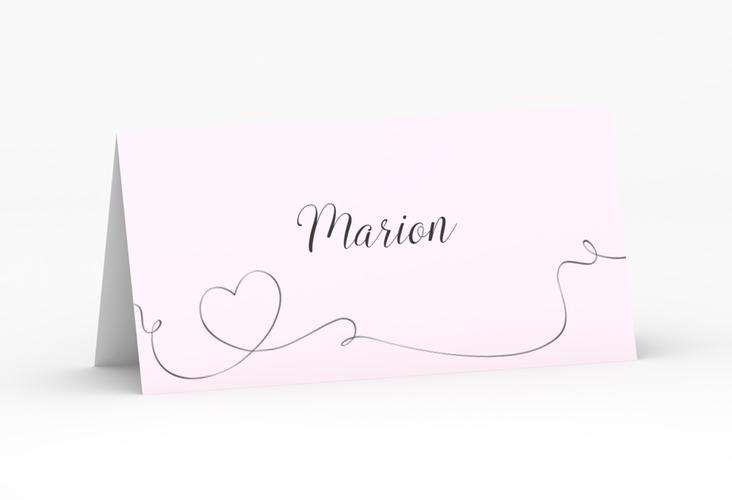 """Tischkarte Hochzeit """"Dolce"""" Tischkarten rosa"""