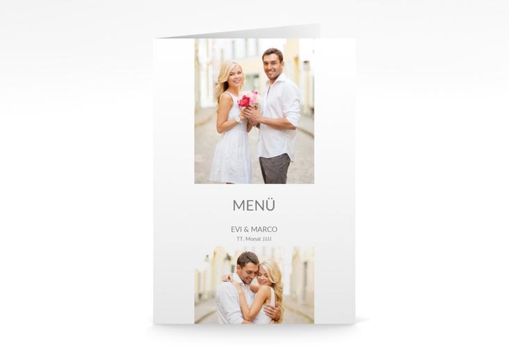 """Menükarte Hochzeit """"Vista"""" DIN A5 geklappt"""