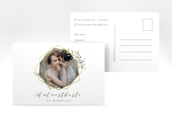"Antwortkarte Hochzeit ""Acacia"" A6 Postkarte"