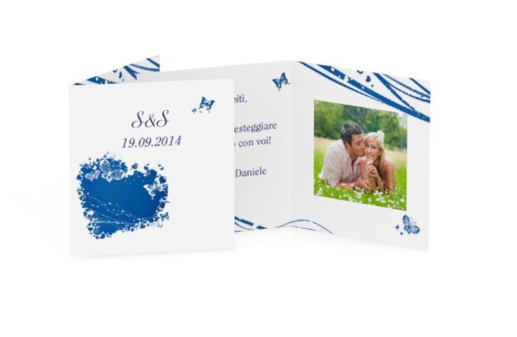 Biglietti Bomboniera matrimonio collezione Milano Geschenkanhänger 10er Set blu