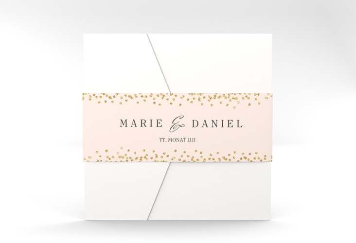 """Hochzeitseinladung """"Glitter"""" Pocketfold rosa"""