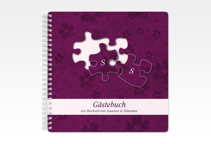 """Gästebuch Hochzeit """"Ravensburg"""" Ringbindung"""