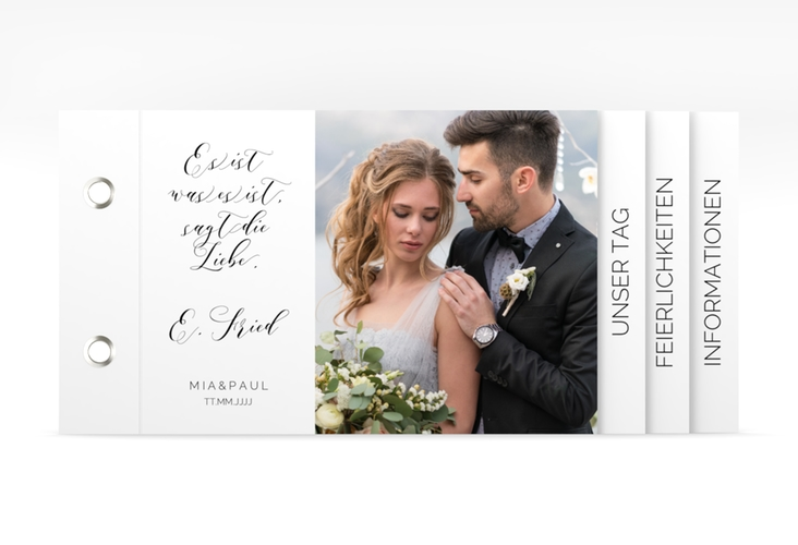 """Hochzeitseinladung """"Paperlove"""" Booklet"""
