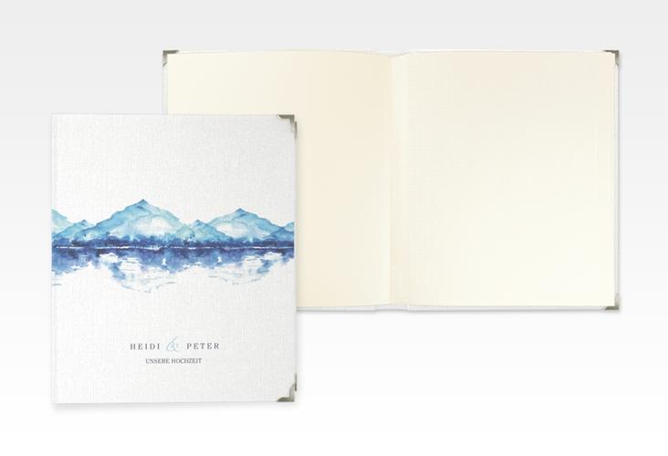 """Hochzeitsalbum """"Bergliebe"""" 21 x 25 cm blau"""