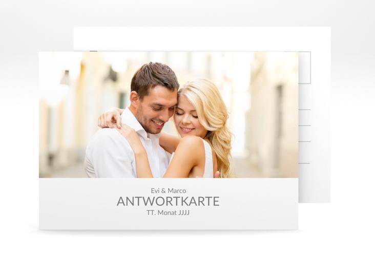 """Antwortkarte Hochzeit """"Vista"""" A6 Postkarte weiss"""