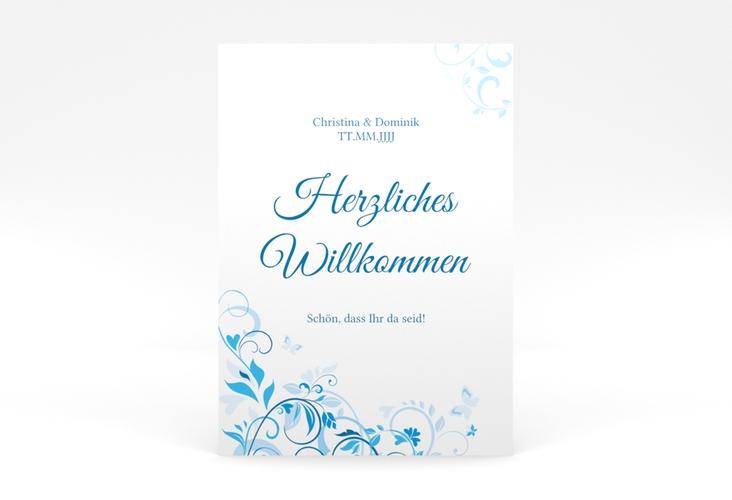 """Willkommensschild Poster """"Lilly"""" 50 x 70 cm Poster blau"""