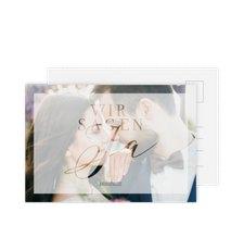 """Antwortkarte Hochzeit """"Amazing"""""""