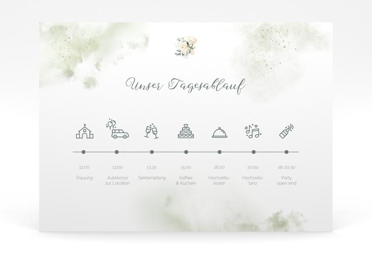 """Tagesablauf Poster Hochzeit """"Adore"""" 70 x 50 cm Poster gruen"""