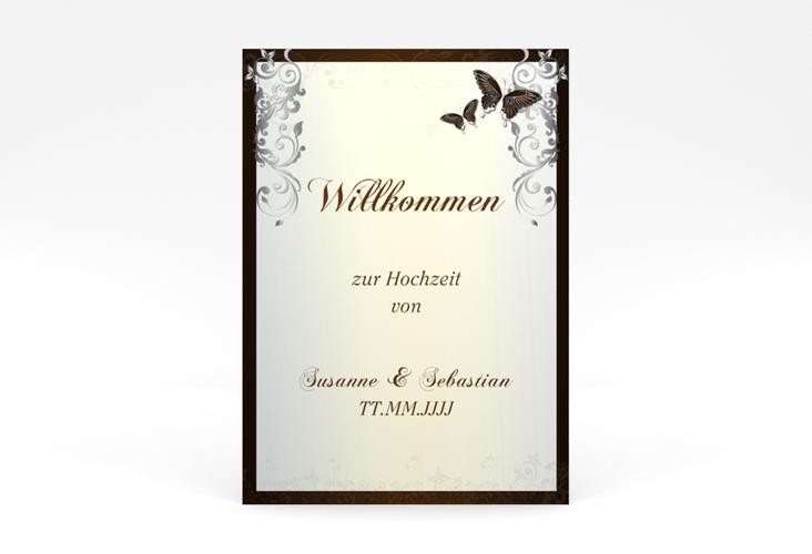 "Willkommensschild Poster ""Toulouse"" 50 x 70 cm Poster braun"