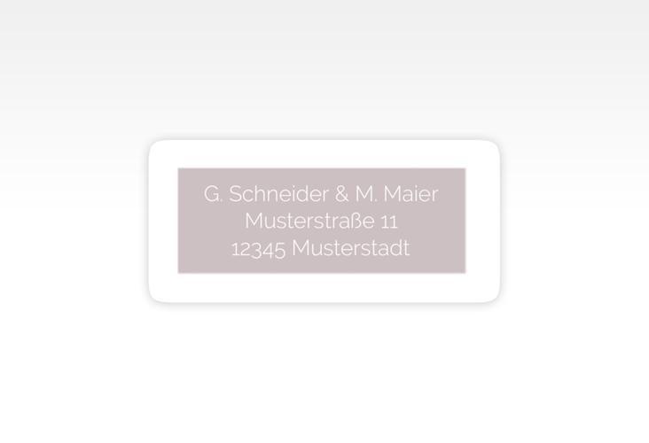 """Absenderetikett Hochzeit """"Simply"""" 45,7 x 21,2 mm grau"""