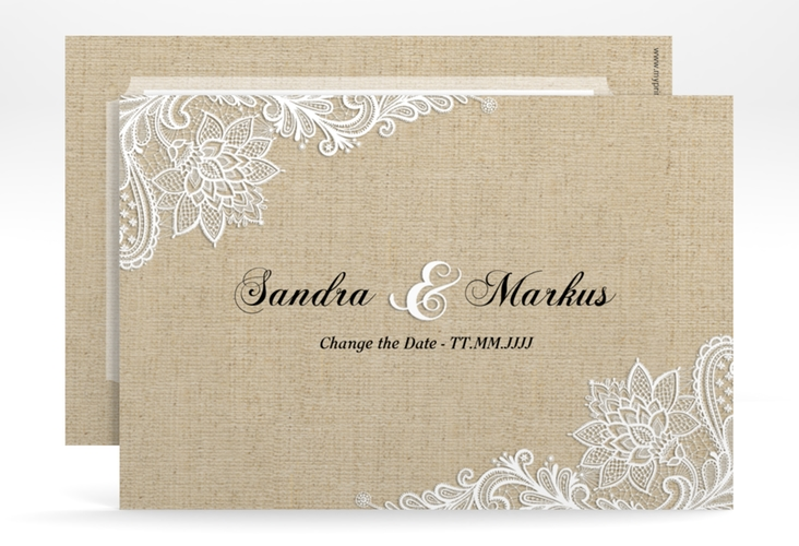 "Change the Date-Karte ""Lace"" A6 quer"