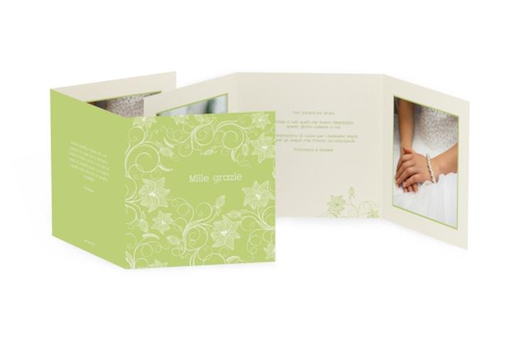 Ringraziamenti matrimonio collezione Savona Quadr. Karte doppelt verde