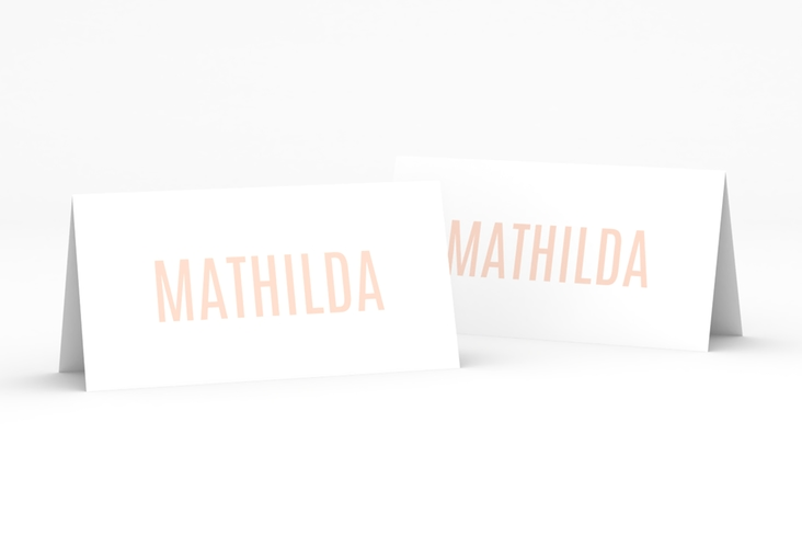 "Tischkarte Hochzeit ""Memory"" Tischkarten rosa"