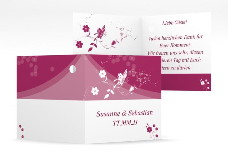 """Geschenkanhänger Hochzeit """"Verona"""" Geschenkanhänger 10er Set pink"""
